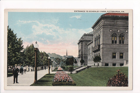 PA, Pittsburgh - Schenley Park entrance postcard - C08617