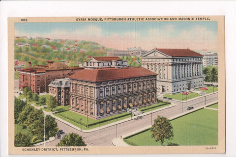 PA, Pittsburgh - Syria Mosque, Pittsburgh Athletic Assoc, Masonic Temple - Q-022
