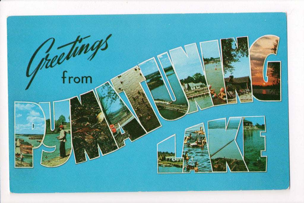 PA, Pymatuning Lake - Greetings from, Large Letter postcard - B08281