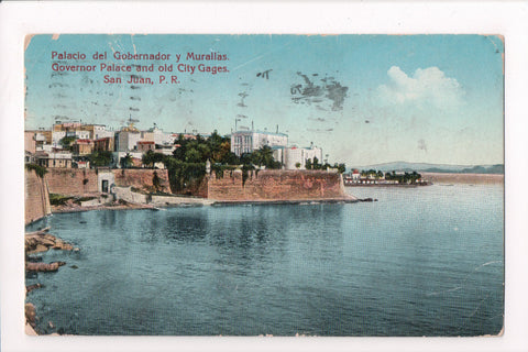 PR, San Juan - Governor Palace, old City Gages - @1936 - B06348 **DAMAGED / AS I