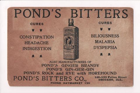 IL, Chicago - PONDS BITTERS Advertisement - SH7284