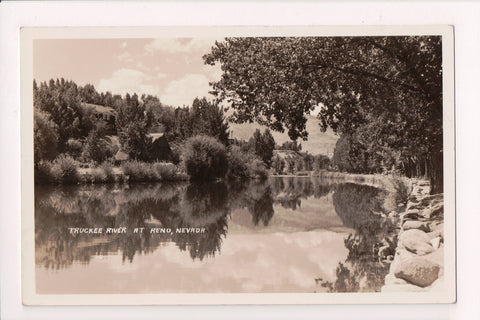 NV, Reno - Truckee River and surrounding - RPPC postcard - R00314