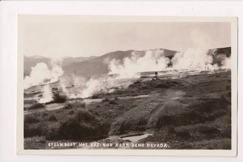 NV, Reno - Steamboat Hot Springs - RPPC postcard - R00362