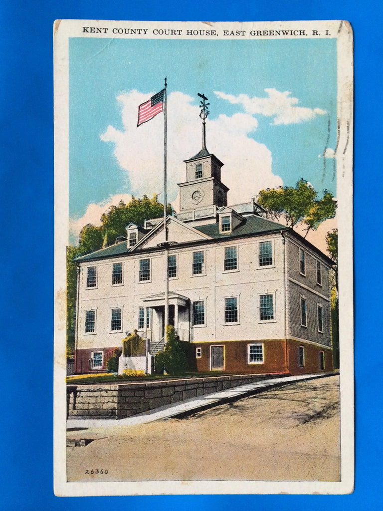 RI, East Greenwich - Kent County Court House postcard - A12026