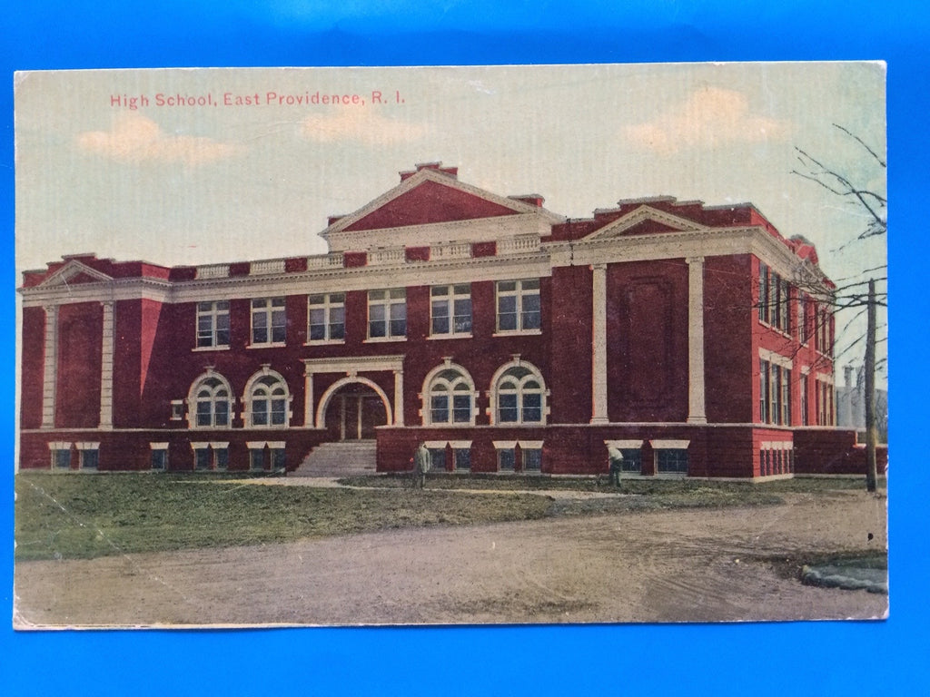 RI, East Providence - High School postcard - D07061