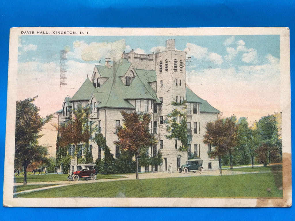 RI, Kingston - Davis Hall postcard - H15070