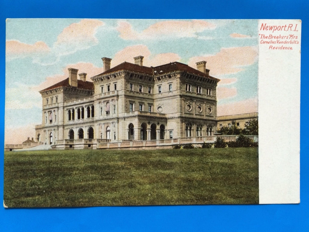 RI, Newport - The Breakers Mrs Cornelius Vanderbilts res postcard - D08037