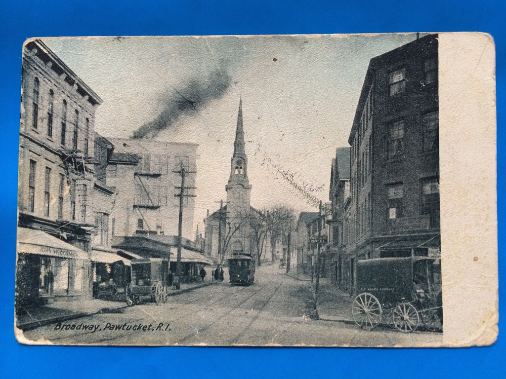 RI, Pawtucket - Broadway incl John McCormick on awning - D07024