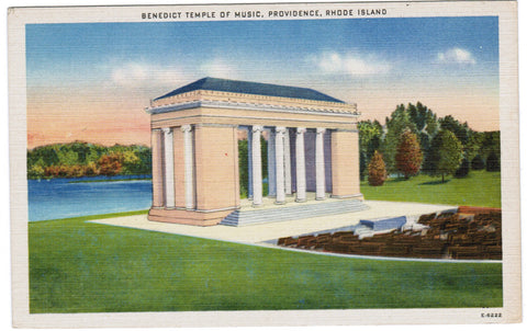 RI, Providence - Benedict Temple of Music postcard - 505049