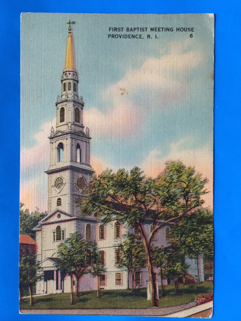 RI, Providence - First Baptist Meeting House postcard - C04311