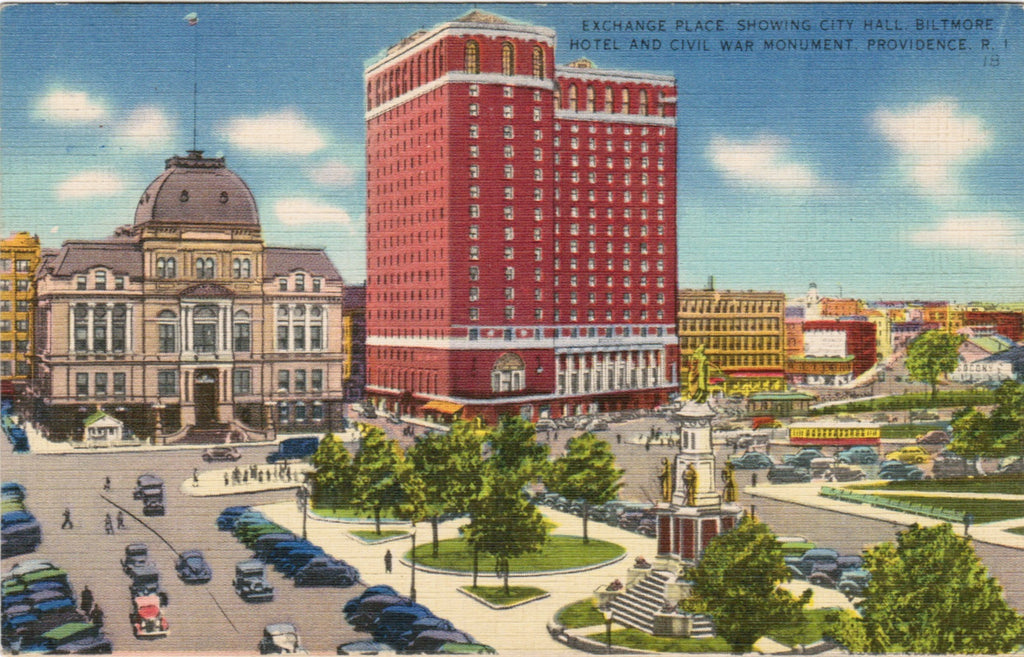 RI, Providence - Exchange Place, Biltmore Hotel etc - C08549