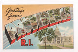 RI, Providence - Greetings from, Large Letter postcard - C08573