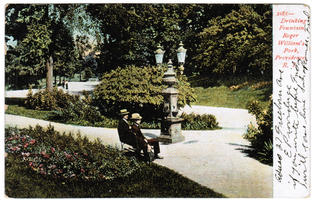 RI, Providence - Roger Williams Park, Drinking Fountain - w03529
