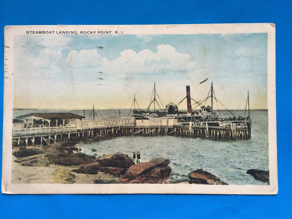 RI, Rocky Point - postcard of Steamboat Landing - H15062