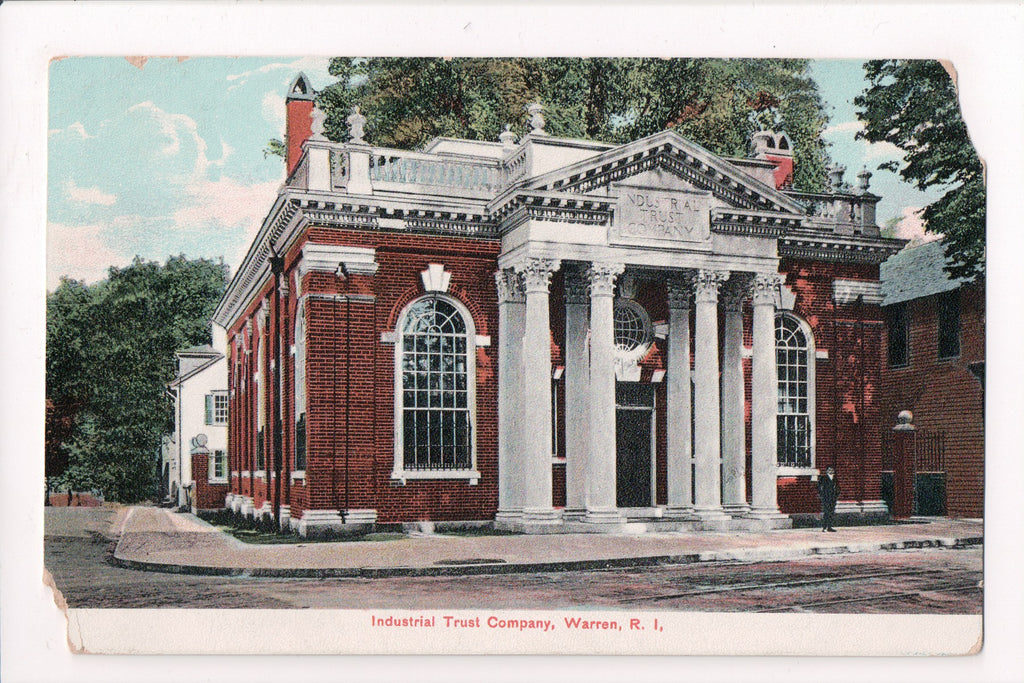 RI, Warren - Industrial Trust Co - @1908 - SH7345 - postcard **DAMAGED / AS IS**