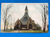 RI, West Londale - Christ Church closeup postcard - A12074