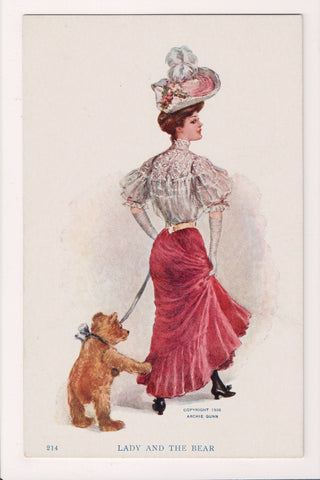 People - Female postcard - Pretty Woman - Archie Dunn - S01015