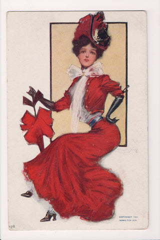 People - Female postcard - Pretty Woman - Hamilton King - S01016