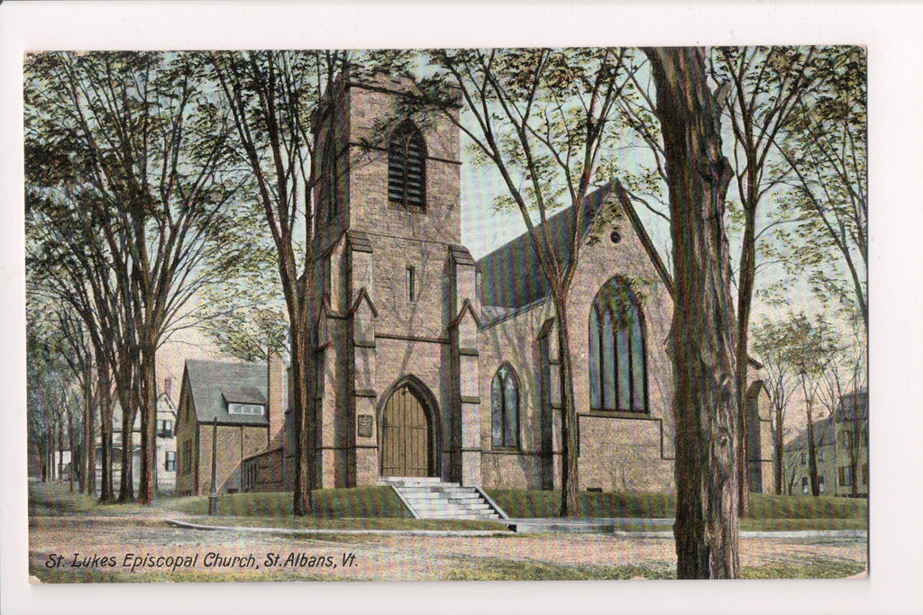 VT, St Albans - St Lukes Episcopal Church - @1908 postcard - S01287