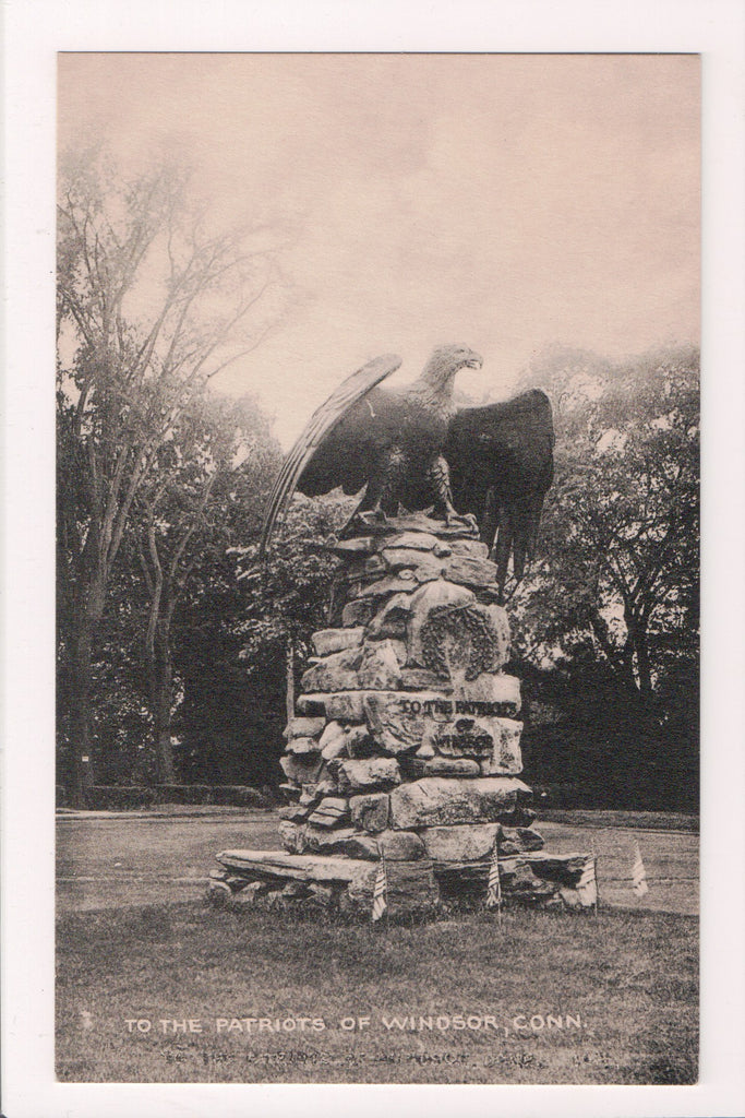 CT, Windsor - TO THE PATRIOTS of, Eagle monument - S01649