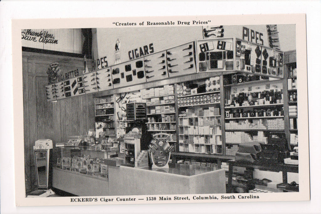 SC, Columbia - Edkerds cigar counter, store interior - D17174