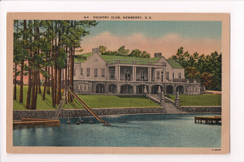 SC, Newberry - Country Club, slide into water postcard - G17060
