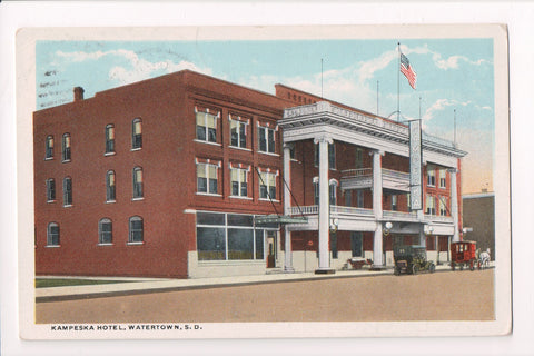 SD, Watertown - Kampeska Hotel - @1922 postcard - H04107