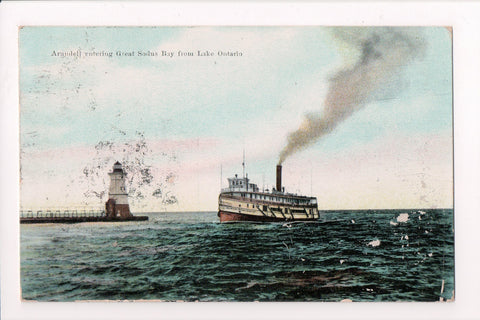 Ship, Boat or Steamer Postcard - ARUNDELL - Great Sodus Bay lighthouse - F17200