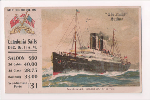 Ship, Boat or Steamer Postcard - CALEDONIA - @1905 - F17251