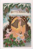 Xmas postcard - Christmas - Angels under gold bells - SL2180