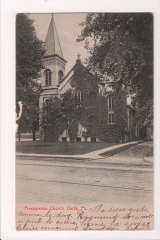 PA, Darby - Presbyterian Church postcard - SL2570