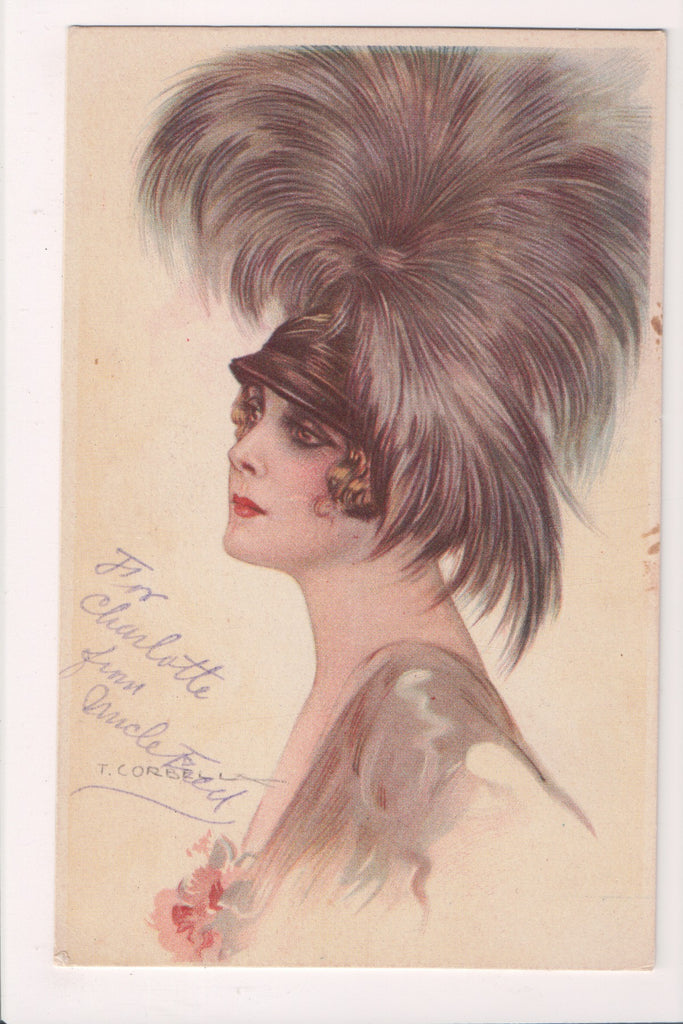 People - Female postcard - Pretty Woman - Tito Corbella - SL2845