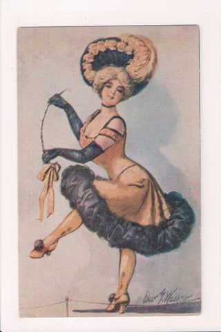 People - Female postcard - Pretty Woman - Edward G Wasko - sw0023