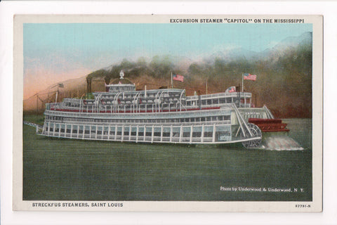 Ship, Boat or Steamer Postcard - CAPITOL - Excursion Steamer - 400579