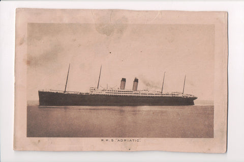 Ship, Boat or Steamer Postcard - ADRIATIC (ONLY Digital Copy Avail) - A17457