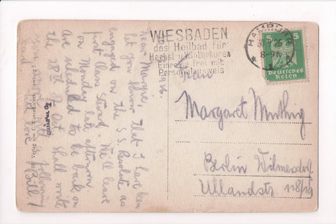 cancel Foreign - Slogan - Germany - Wiesbaden das Heilbad Fur - 1926 cancel - B0