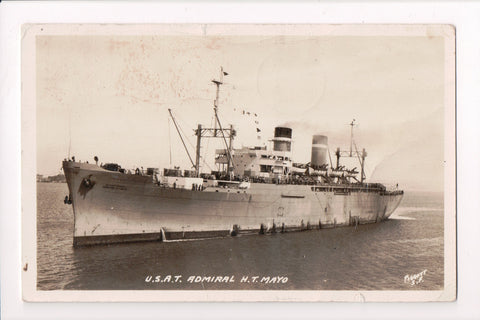 Ship, Boat or Steamer Postcard - ADMIRAL H T MAYO - USAT - @1960 RPPC - B06586
