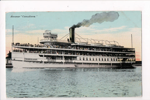 Ship, Boat or Steamer Postcard - CANADIANA - Steamer @1912 view - F17065
