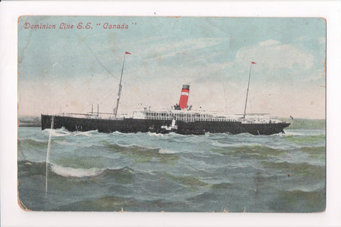 Ship, Boat or Steamer Postcard - CANADA - Dominion Line (ONLY Digital Copy Avail) - F17078