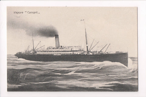 Ship, Boat or Steamer Postcard - CANOPIC - Vapore (ONLY Digital Copy Avail) - F17091