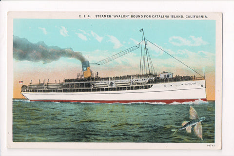 Ship, Boat or Steamer Postcard - AVALON - Steamer Avalon - F17110