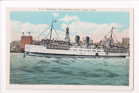 Ship, Boat or Steamer Postcard - BOSTON - SS Boston - F17115