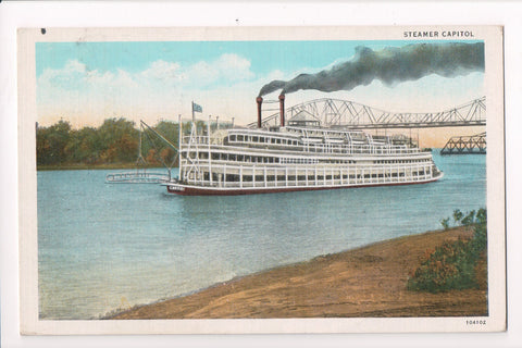 Ship, Boat or Steamer Postcard - CAPITOL - Steamer Capitol - MB0299
