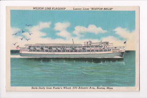 Ship, Boat or Steamer Postcard - BOSTON BELLE - Wilson Line Flagship - w04193
