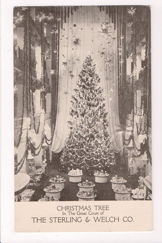 OH, Cleveland - STERLING and WELCH CO Advertisement - huge xmas tree - K03247