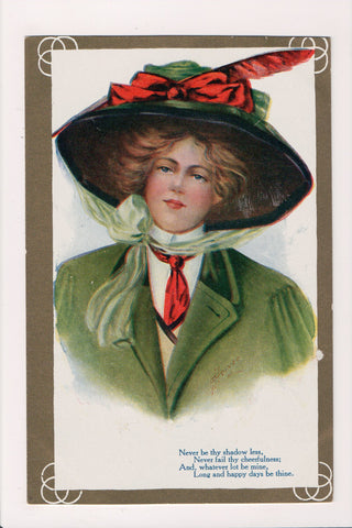People - Female postcard - Pretty Woman - A Heinze - T00182