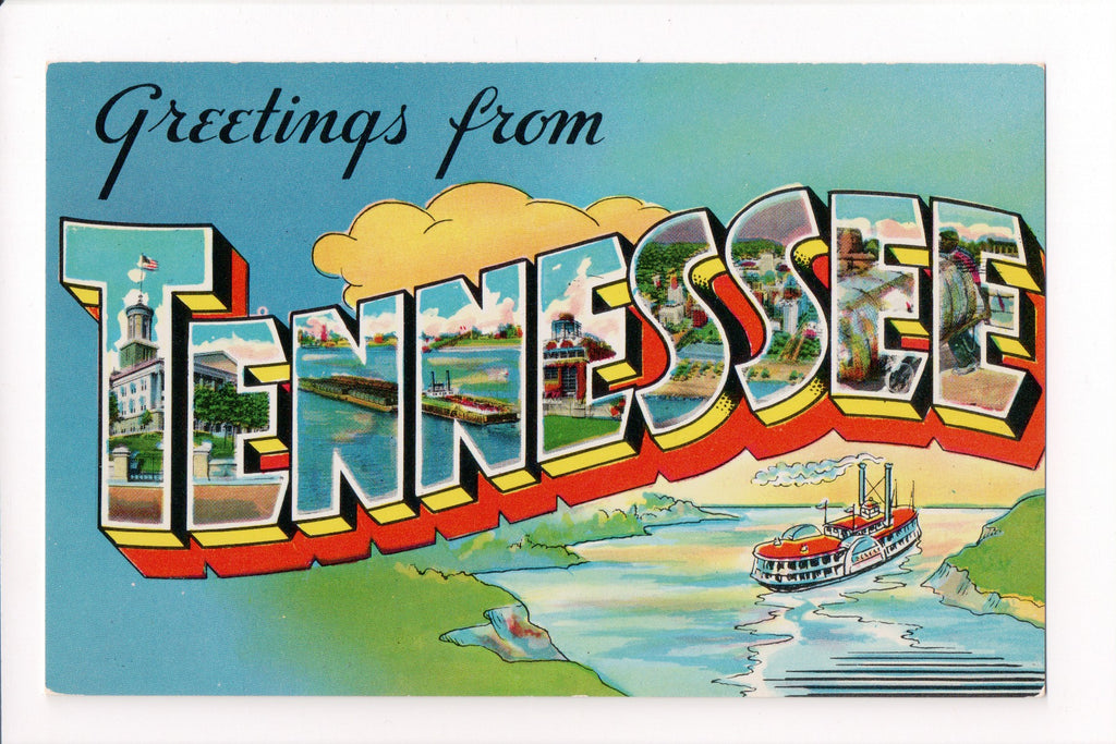 TN, Tennessee - Greetings from, Large Letter postcard - MT0012