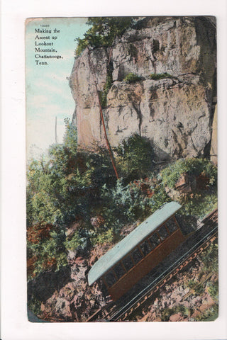 TN, Chattanooga - Lookout Mountain trolley close up in action - A17403