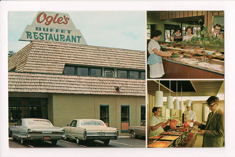 TN, Gatlinburg - Ogles Buffet Restaurant, vintage postcard - B08023