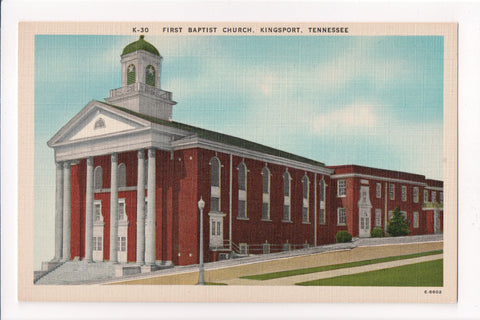 TN, Kingsport - First Baptist Church postcard - MT0002